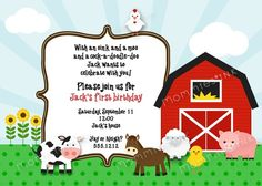 farm themed birthday invitation wording ; 66d1e2bcdb806c22d230a0ebd6a29233
