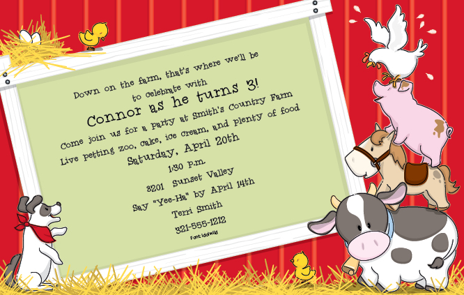 farm themed birthday invitation wording ; 7abae460662d2290f9a474f7b968352c