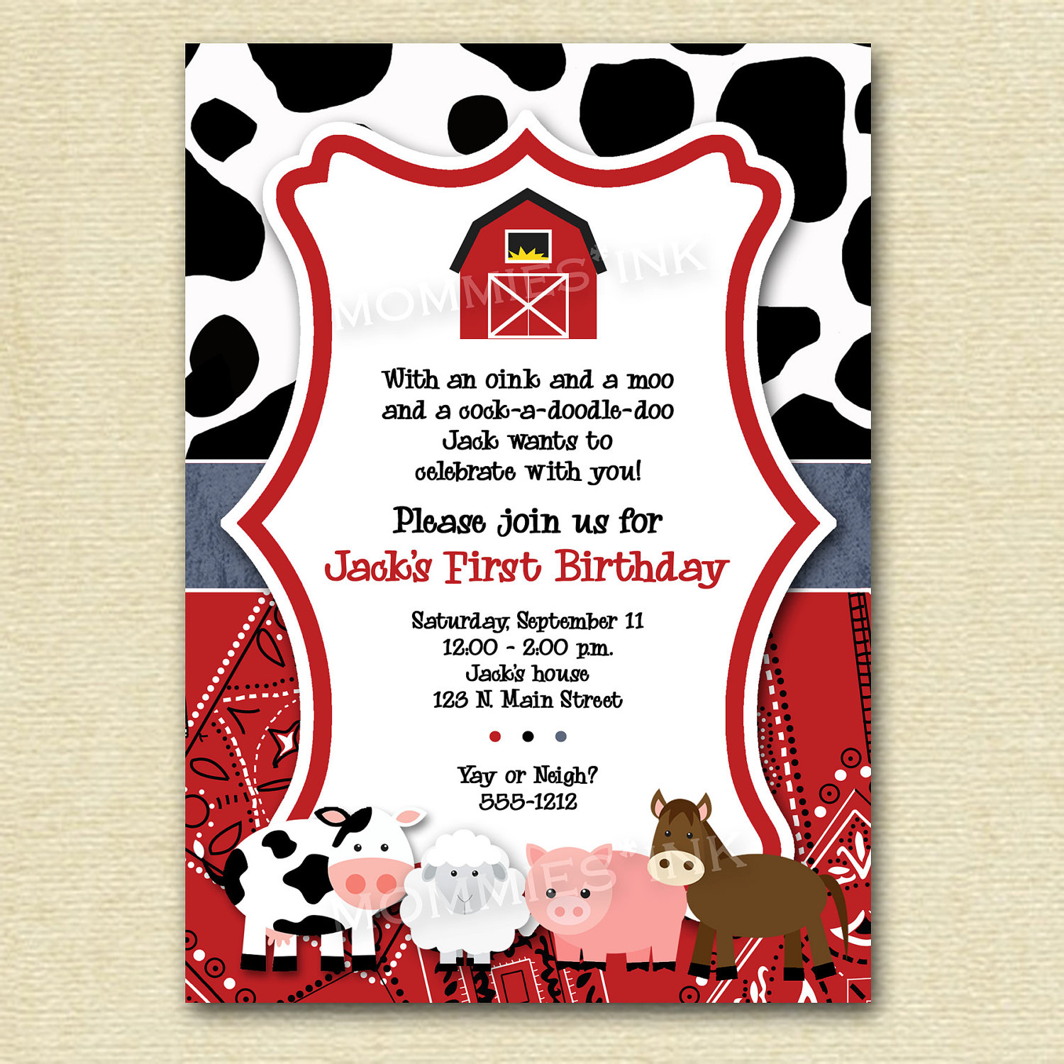farm themed birthday invitation wording ; b6c95392a26e2f11183b6acd98ee92ed