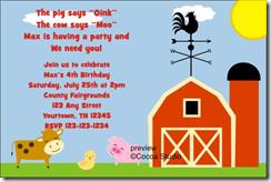 farm themed birthday invitation wording ; image14