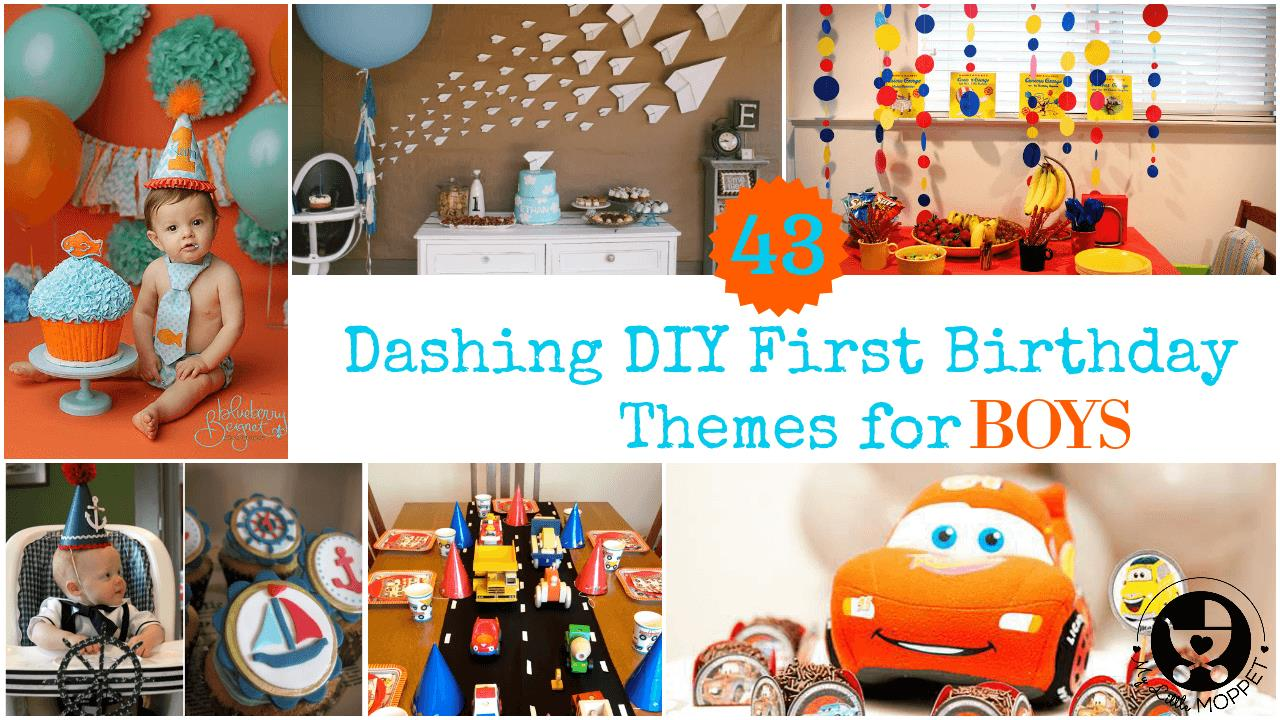 first birthday activities ; First-Birthday-Theme-for-boys-FB