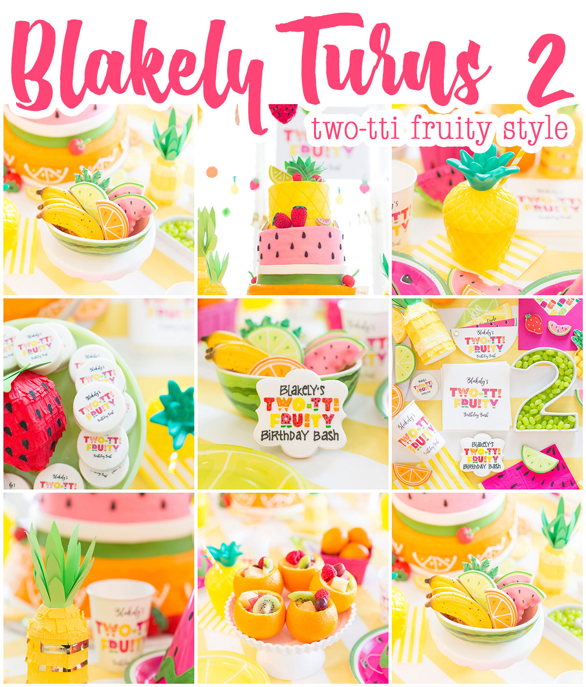 first birthday activities ; twotti-fruity-birthday-party-ideas