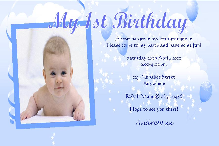 first birthday greeting card messages ; personalised-birthday-photo-invitations-boy-design-8-201-p