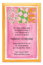 first birthday invitation quotes ; PP21159I