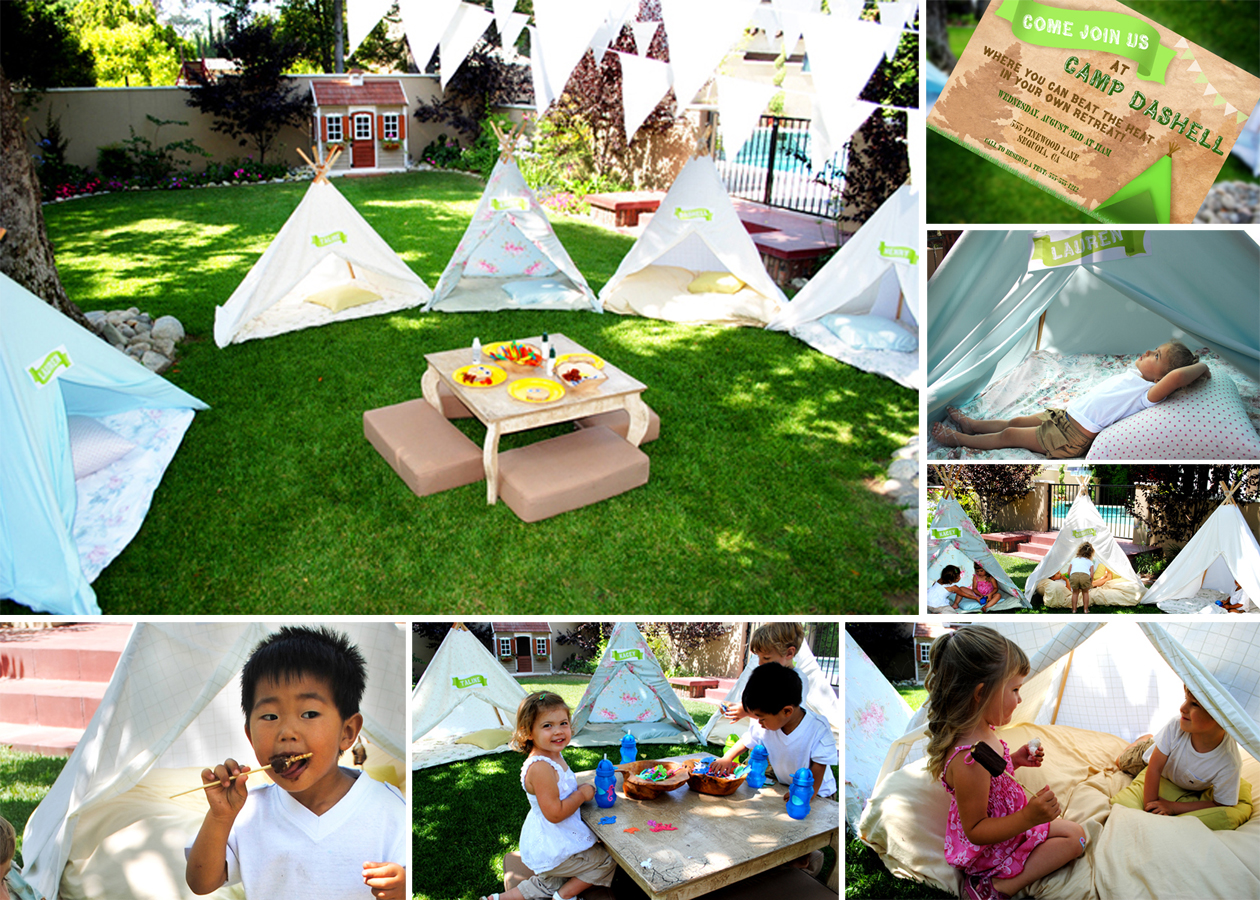 first birthday party activities ; 6+GWD+Camping+Backyard+Retreat+Party