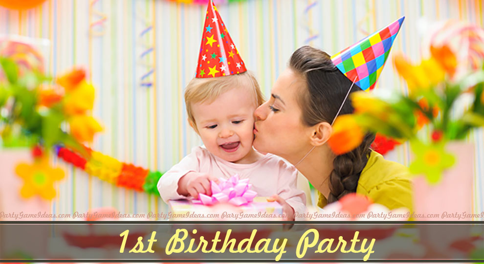 first birthday party activities ; Baby-1st-Birthday-Cat-Pic-2