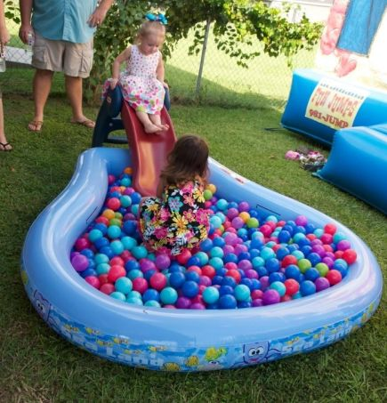 first birthday party activities ; First-Boy-Birthday-Ball-Pit