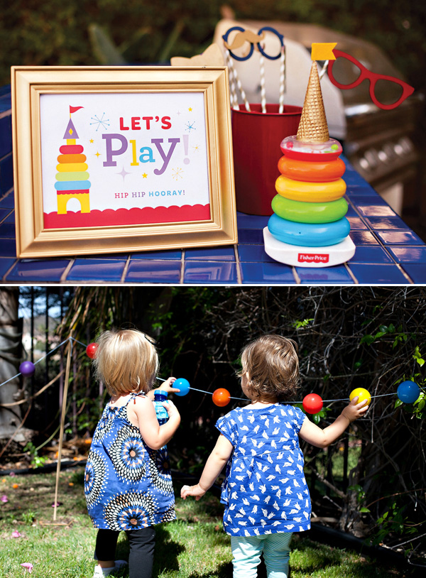 first birthday party activities ; rainbow-royal-birthday-party-decorations