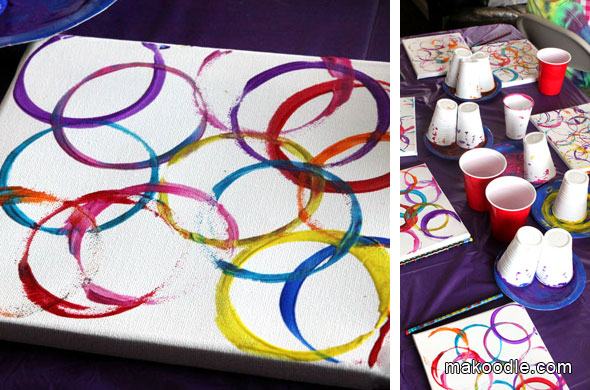 first birthday party games and activities ; Plastic-Cup-Art