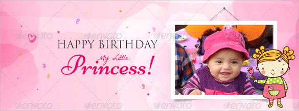 first birthday poster designs ; Creative-Sample-Birthday-Banner-Template