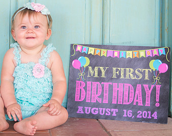 first birthday poster designs ; il_340x270