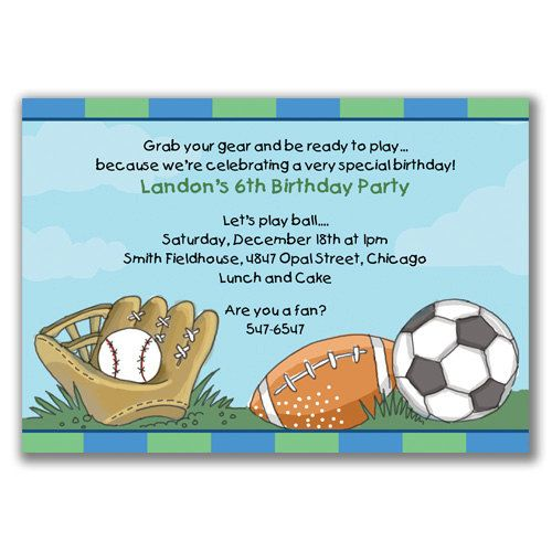 football themed birthday party invitation wording ; boys-sports-birthday-invitations-17-best-sports-party-images-on-pinterest-2nd-birthday-diy-and