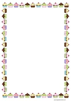 free birthday borders for word ; 803615