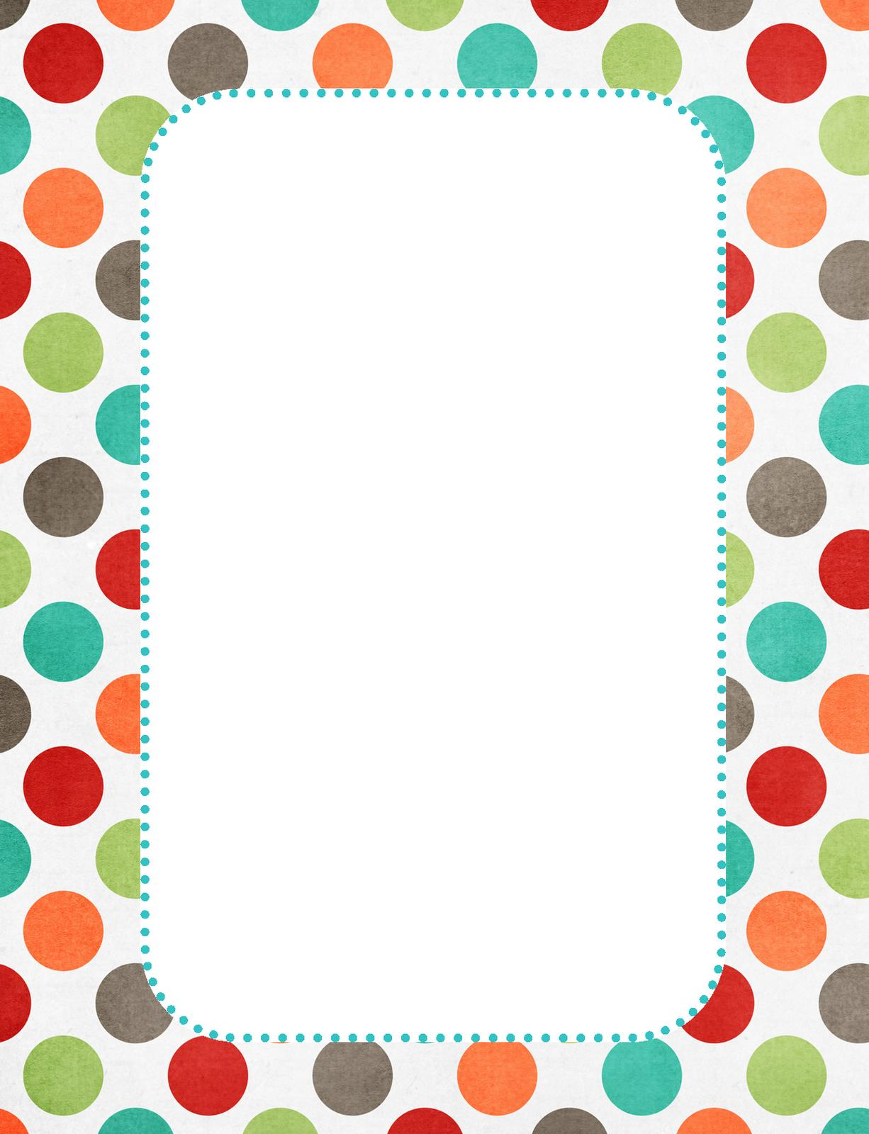 free birthday borders for word ; clipart-boy-border-birthday-polka-dot-10