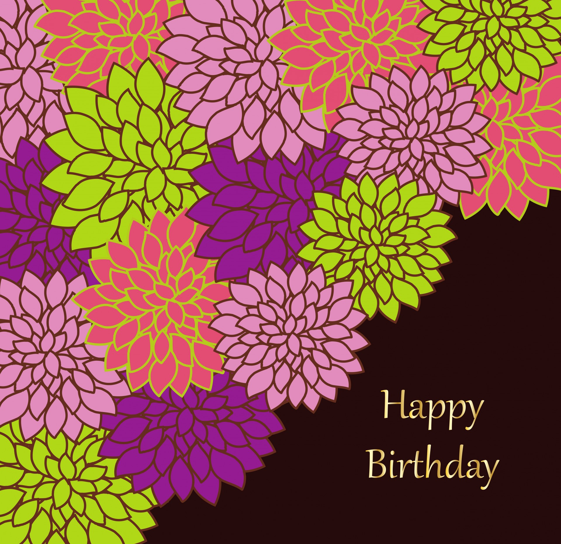 free birthday card design templates ; floral-birthday-card-template