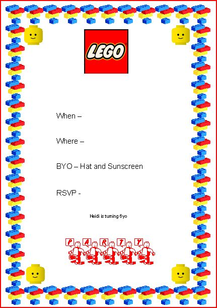 free birthday invitation border templates ; lego-party-invite