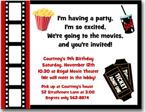 free birthday party invitation templates movie theme ; 14b1009907a6af3206a0031aa370c22d
