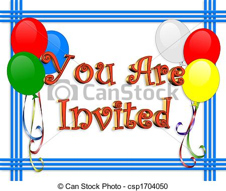 free clipart for birthday invitations ; birthday-invitation-balloons-border-drawing_csp1704050
