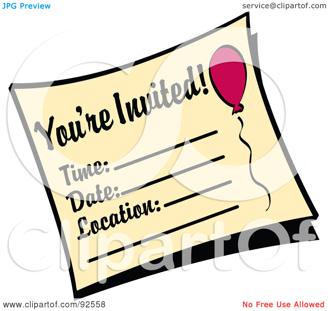 free clipart for birthday invitations ; invitation-clipart-2