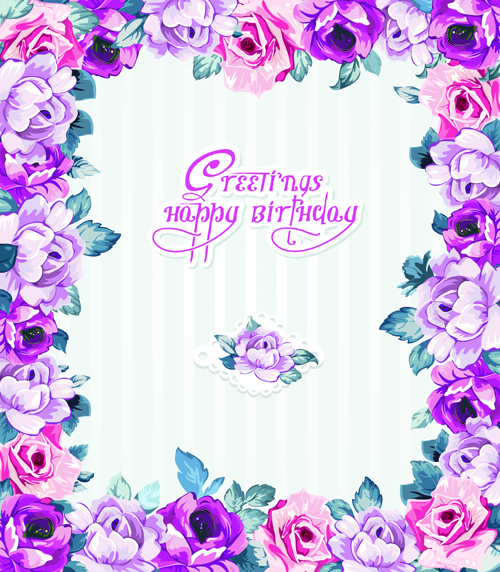 free happy birthday frames and borders ; Happy-birthday-flowers-greeting-cards-01