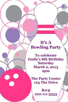 free printable 13th birthday party invitations ; free-printable-bowling-birthday-party-invitations-to-design-your-own-Birthday-invitation-in-appealing-styles