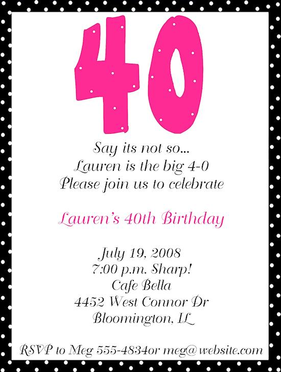 free printable 40th birthday party invitation templates ; 1fe437904460b0da5cf43449d1a18c9d