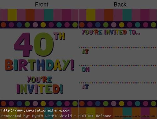 free printable 40th birthday party invitation templates ; 40th-birthday-invitations-printable-free
