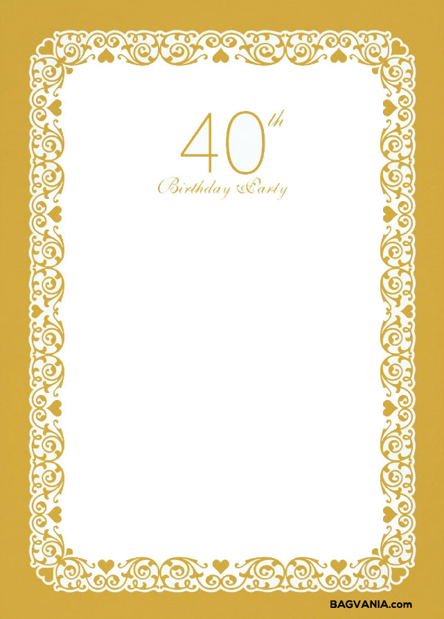 free printable 40th birthday party invitation templates ; FREE-Printable-40th-Birthday-Invitation-Template