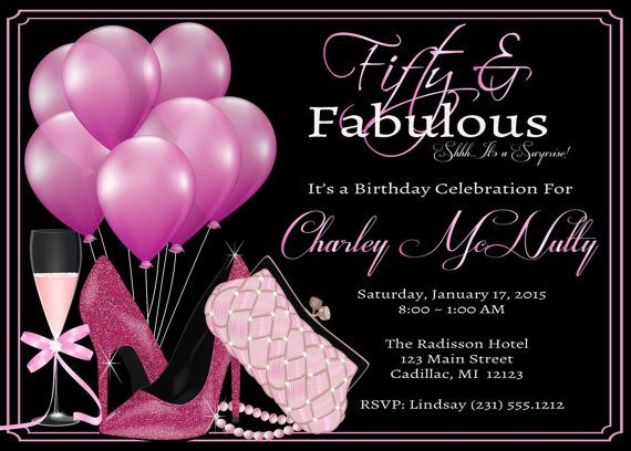 free printable 50th birthday party invitation templates ; fifty2