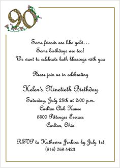 free printable 90th birthday invitation templates ; 4fcaa37b55a85d604bde942e6e6917aa