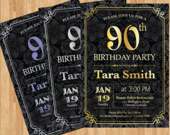 free printable 90th birthday invitation templates ; 90th-birthday-invitation-wording-samples