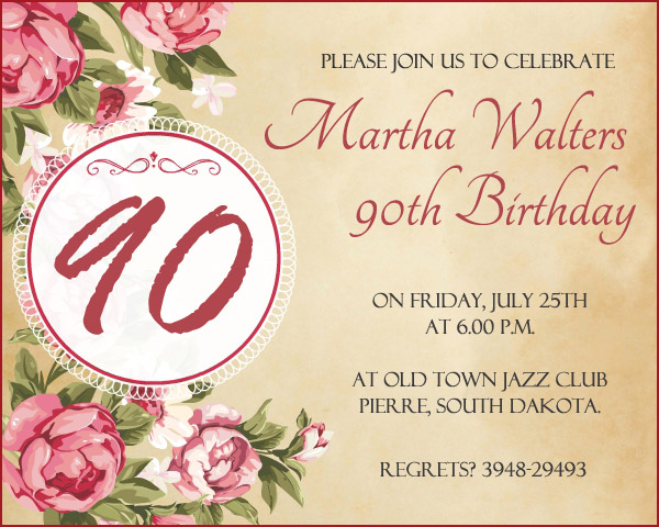 free printable 90th birthday invitation templates ; 90th-birthday-invitations
