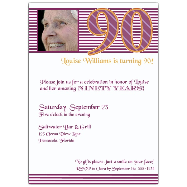 free printable 90th birthday invitation templates ; 90th-birthday-invites-templates-90th-birthday-pink-stripes-photo-invitations-paperstyle-ideas