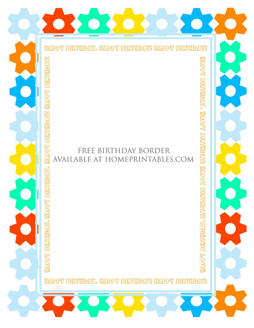 free printable birthday borders ; free-printable-birthday-border-6
