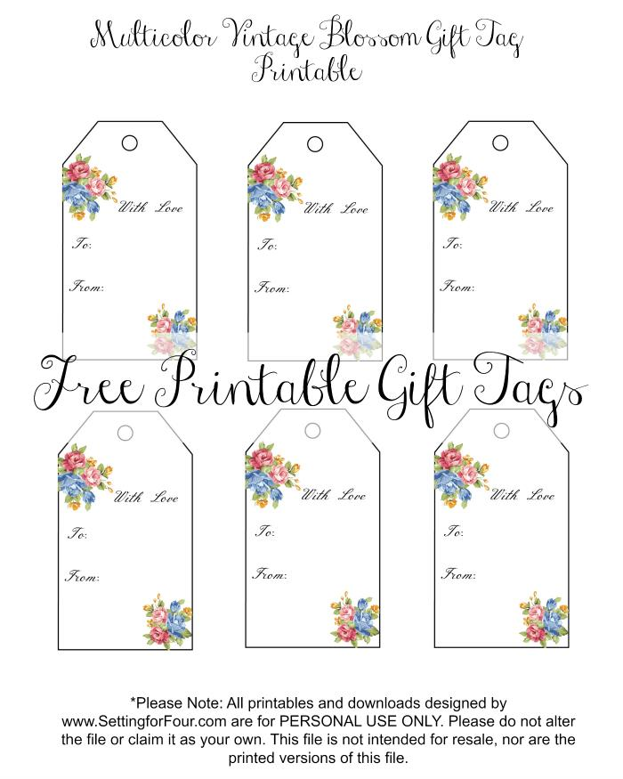 free printable birthday favor tags ; free-multicolor-floral-gift-tags1