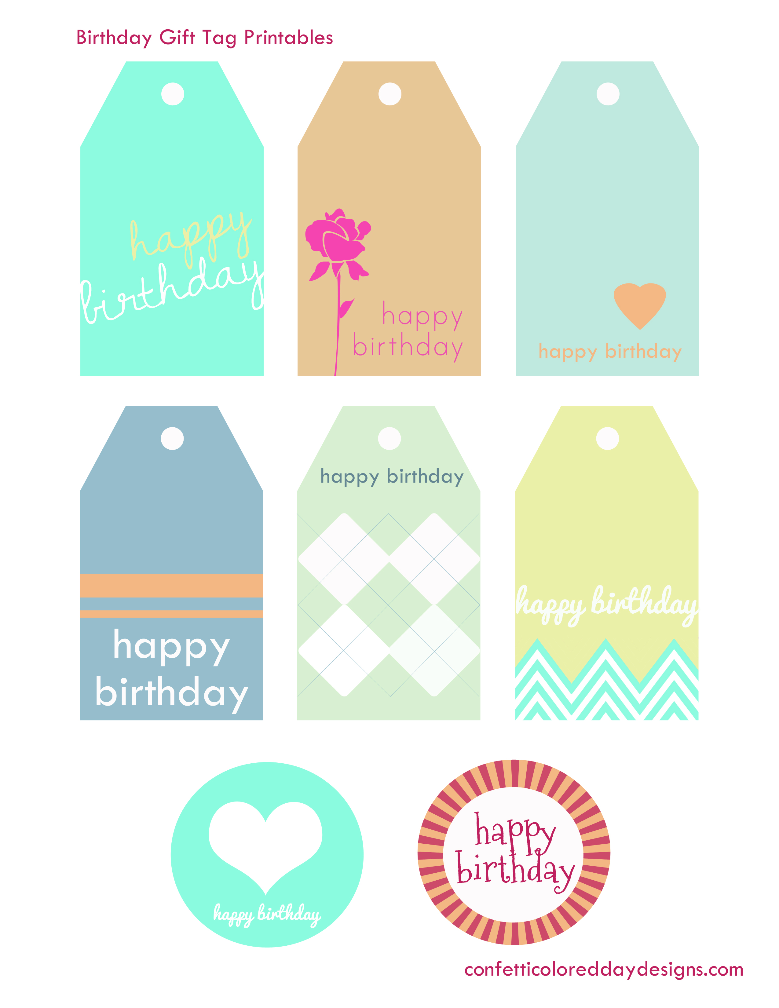 Free Printable Birthday Gift Tags Best Happy Birthday Wishes