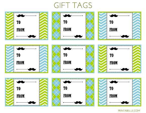 free printable birthday gift tags personalized ; mustachegifttags