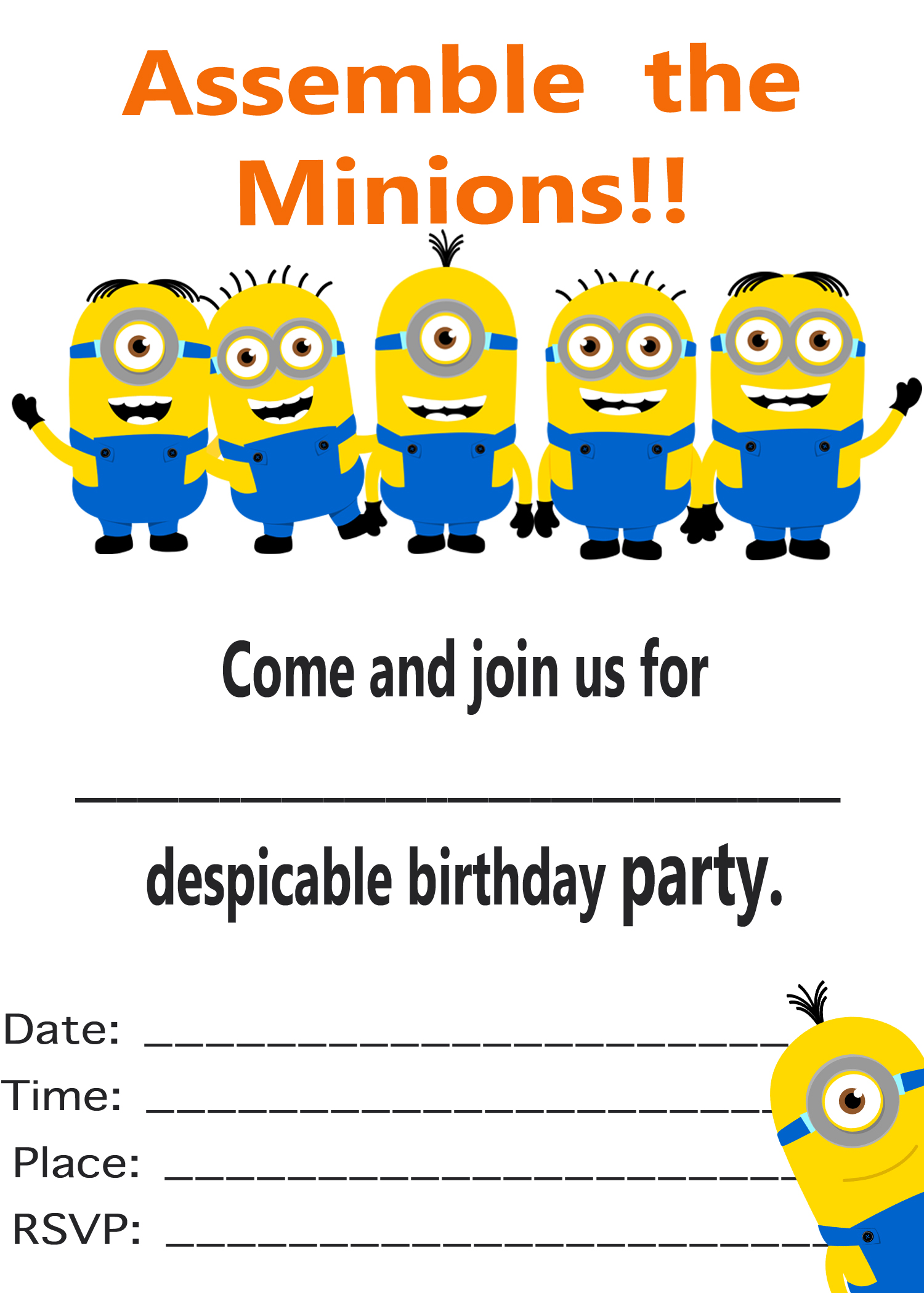 free printable birthday invitation cards ; Minion-Birthday-Party-Invitations-Templates-to-inspire-you-how-to-create-the-birthday-Invitation-with-the-best-way-1