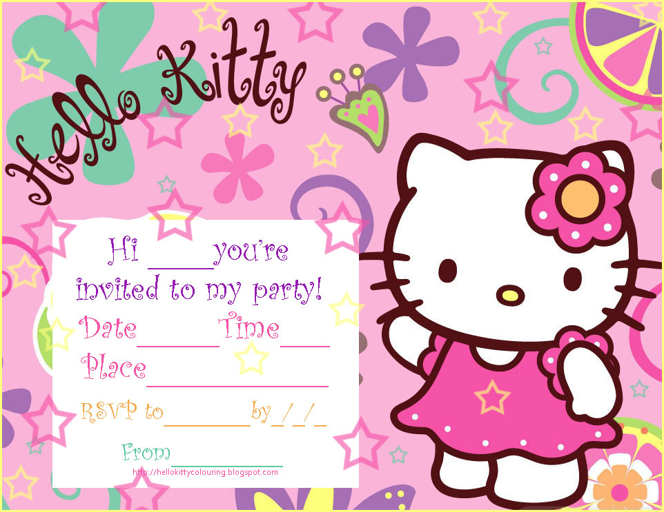 free printable birthday invitation cards templates ; Printable-Hello-Kitty-Birthday-Invitations