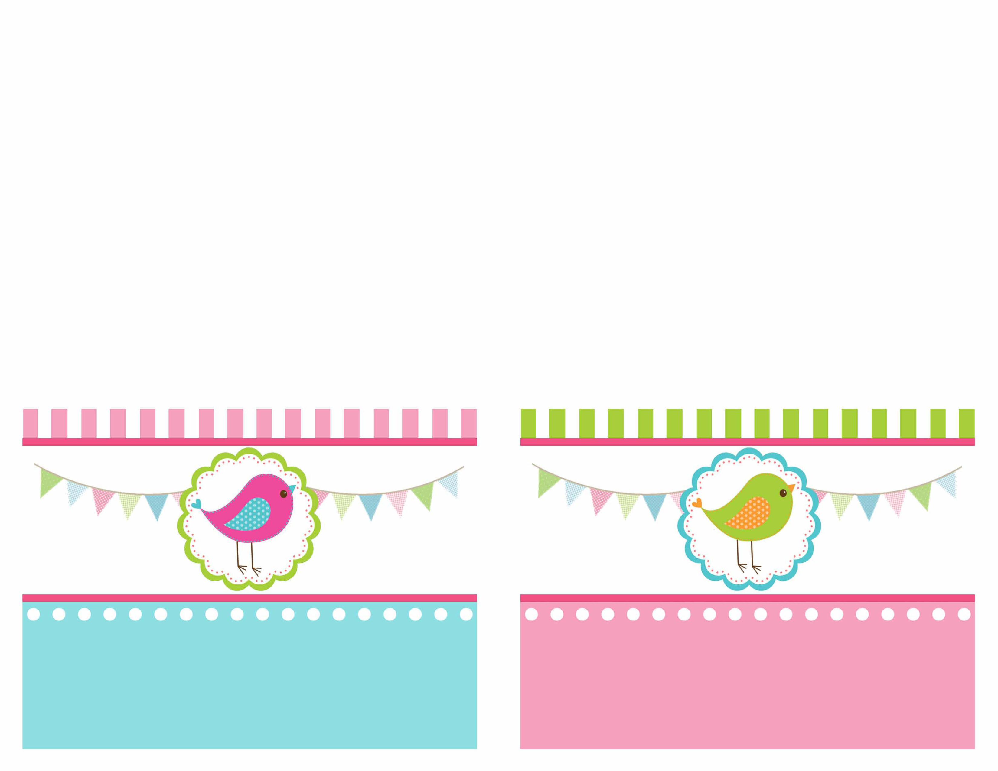 free printable birthday invitation cards templates ; bird-birthday-party-food-card-printables