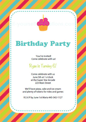 free printable birthday invitation cards templates ; printable-birthday-invitations-stripes1