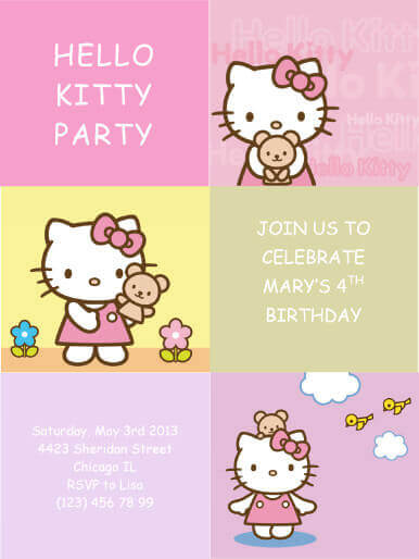 free printable birthday invitation templates for boys ; Hello-Kitty-Party-Invitation