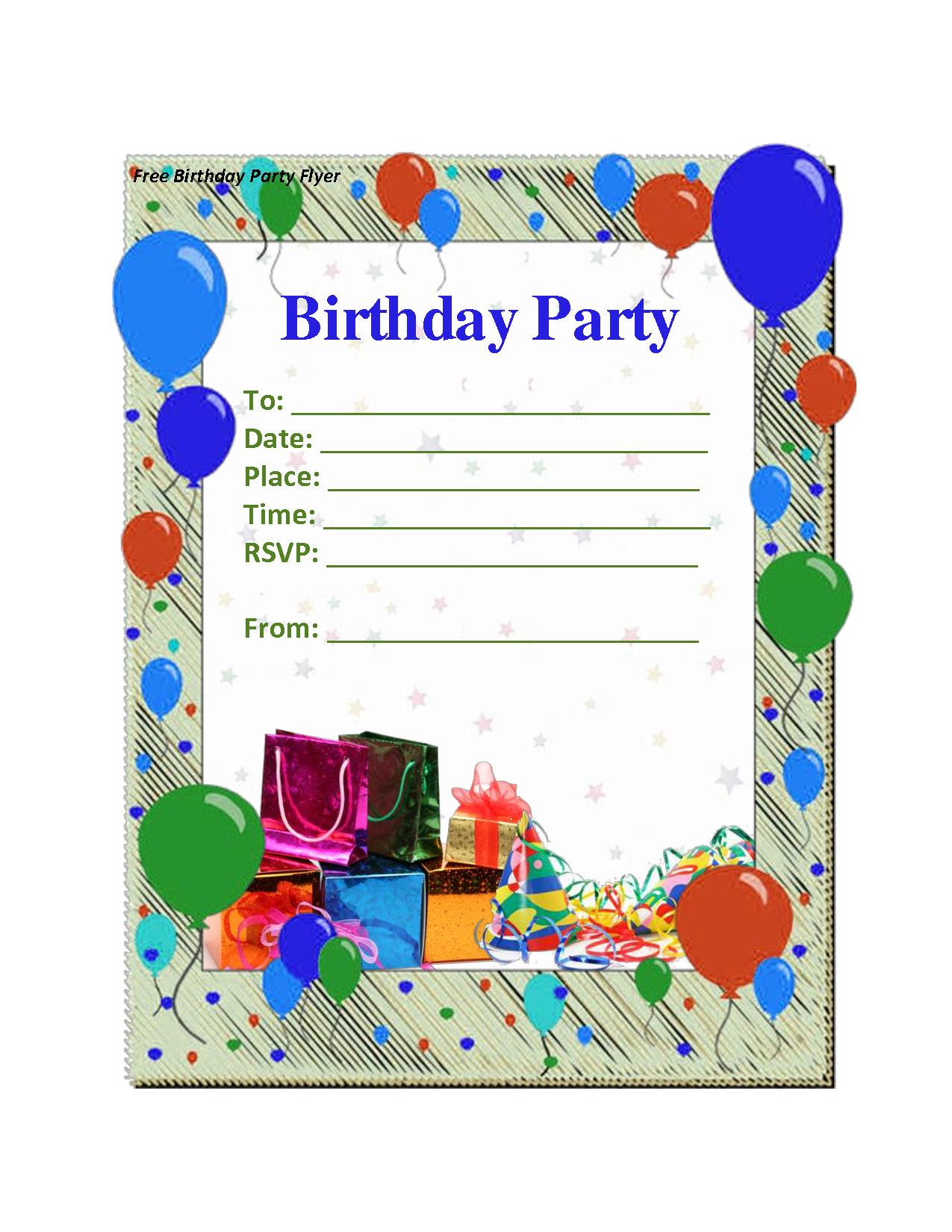 free printable birthday invitation templates for boys ; birthday-invitation-templates-With-the-model-Birthday-attractive-ideas-13