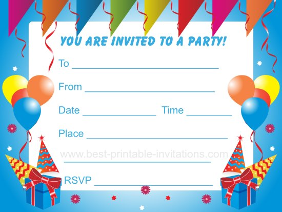 free printable birthday invitation templates for boys ; top-18-kids-birthday-party-invitations-to-inspire-you-theruntime-childrens-party-invites-templates