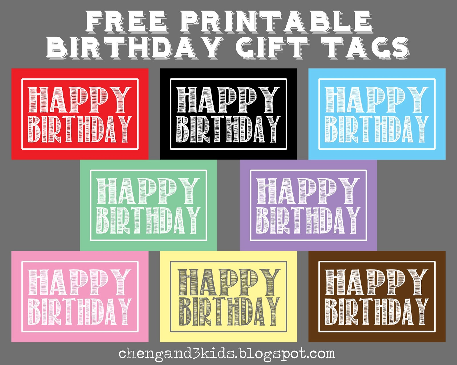 free printable birthday labels ; Happy+Birthday+Tags