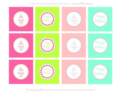 free printable birthday labels ; stefanie+birthday+decor