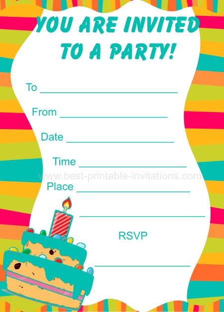 free printable birthday party invitations for boys ; party-invitations-for-kids-1