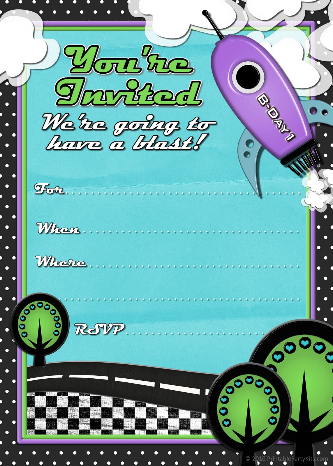 free printable birthday party invitations for boys ; rocket-ship-boys-birthday-party-invitation