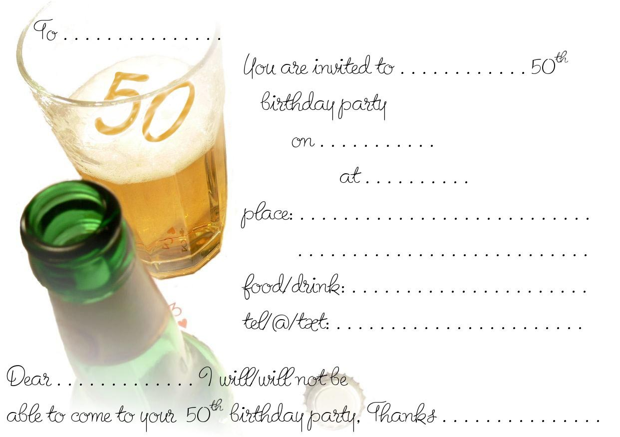 free printable birthday party invitations templates ; Free-Printable-50th-Birthday-Invitation-Design