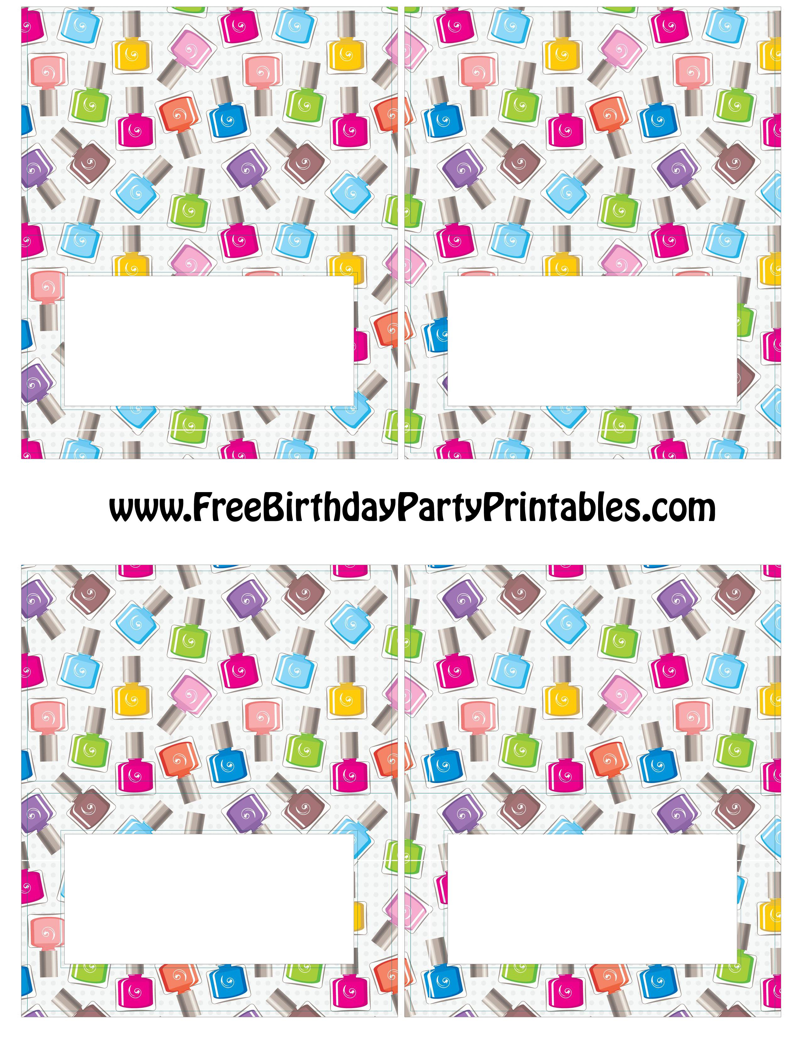 free printable birthday party labels ; Free%2520Nail%2520Polish%2520Birthday%2520Party%2520Food%2520Tent%2520Card%2520Template%2520by%2520Free%2520Birthday%2520Party%2520Printables%2520Blank